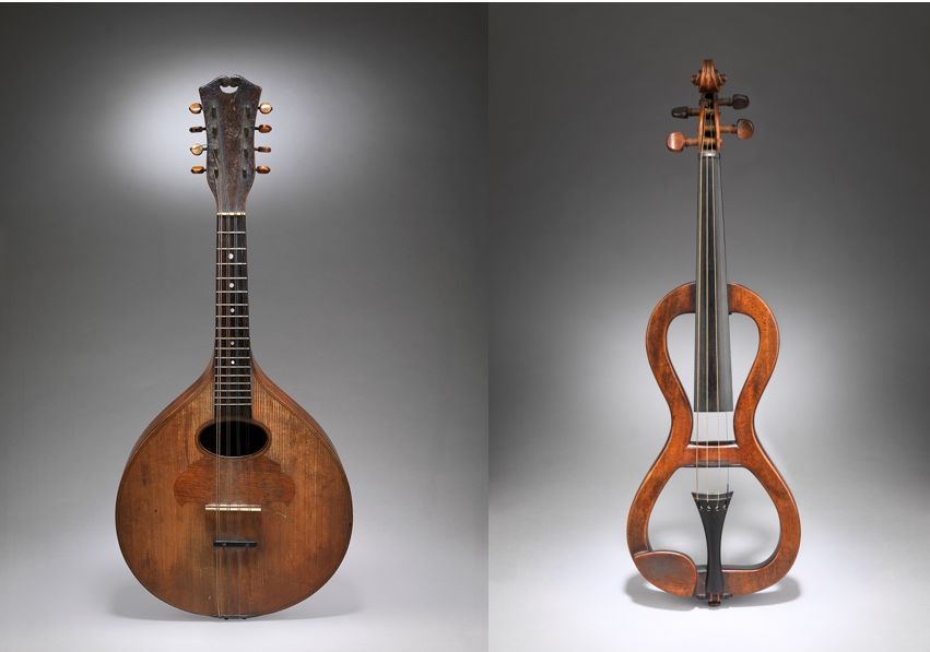 A Collection of Four Sculptural Primitive Stringed Instruments