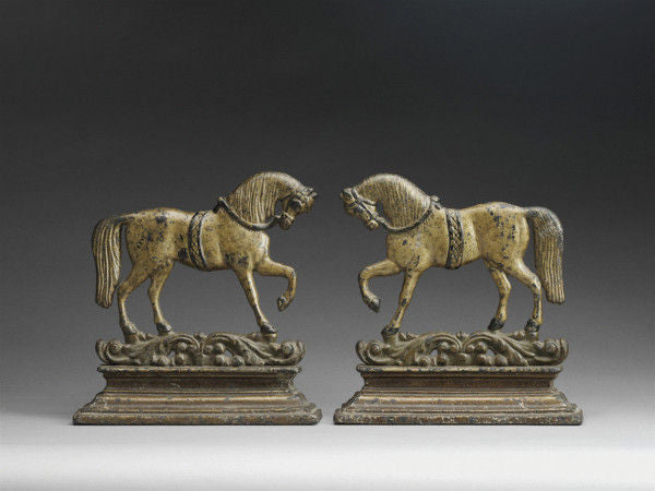 Two Trotting Horses Mantel Figures