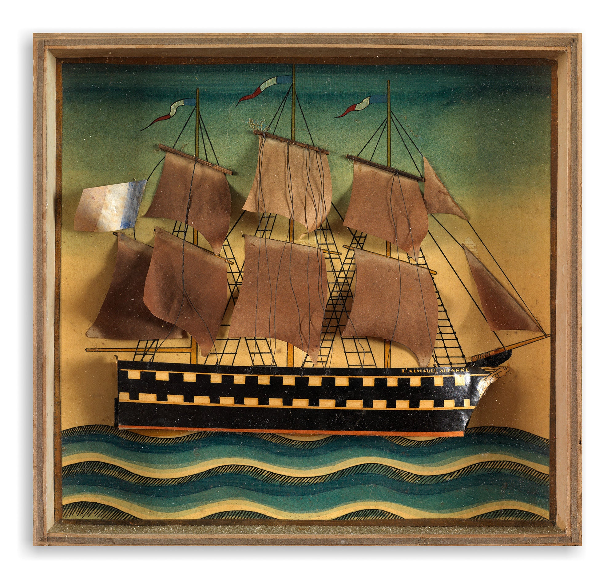 """L'Aimable Suzanne"" Box Framed Ship Diorama"