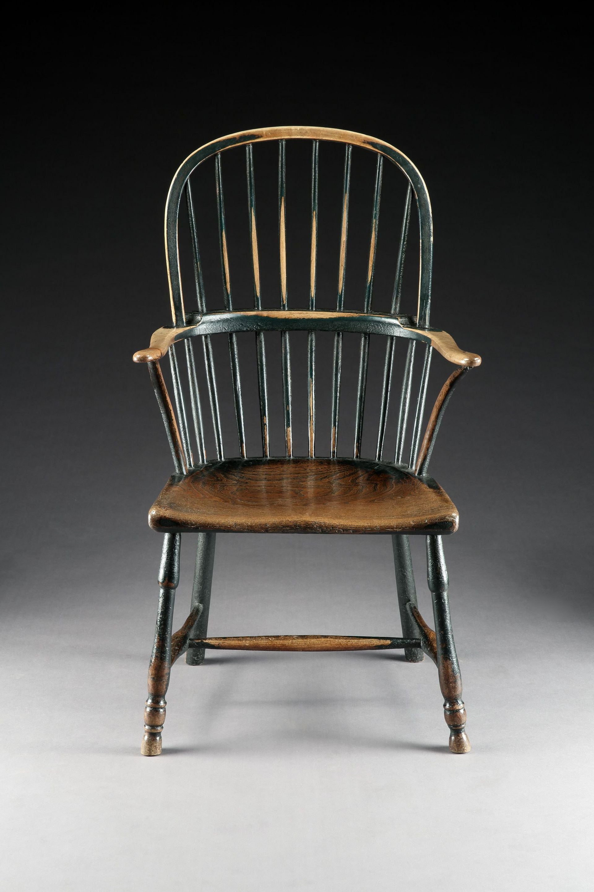 Classic Georgian Bow Backed Windsor Armchair