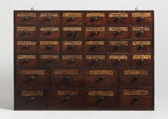 A Fine Small Nest of Thirty Two Apothecary Drawers