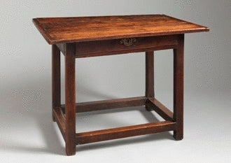 Early Square Leg Joined Frame Side Table