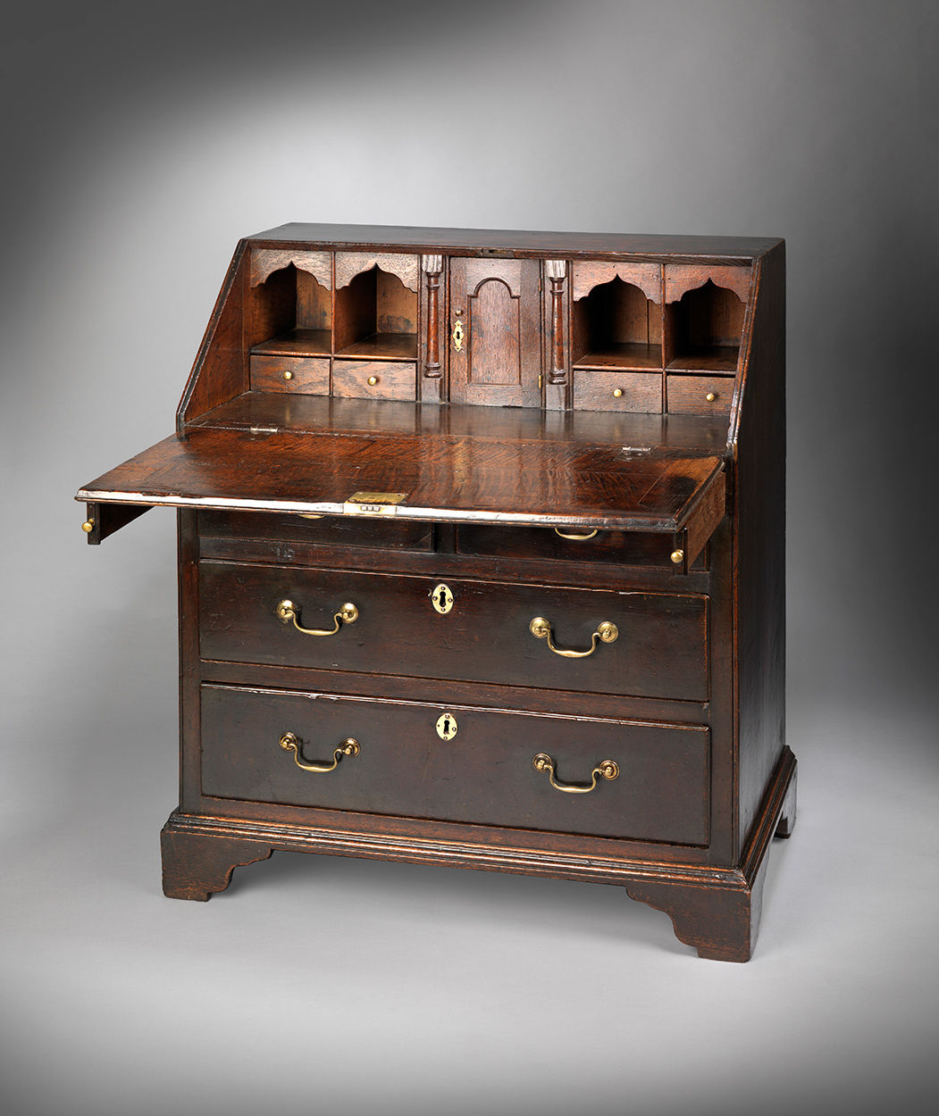 Unusual Georgian Fall Front Writing Desk