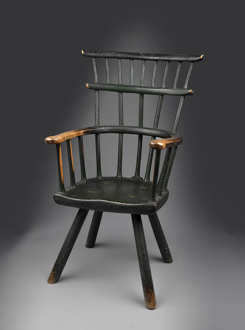 Exceptional Double Comb Back Windsor Armchair