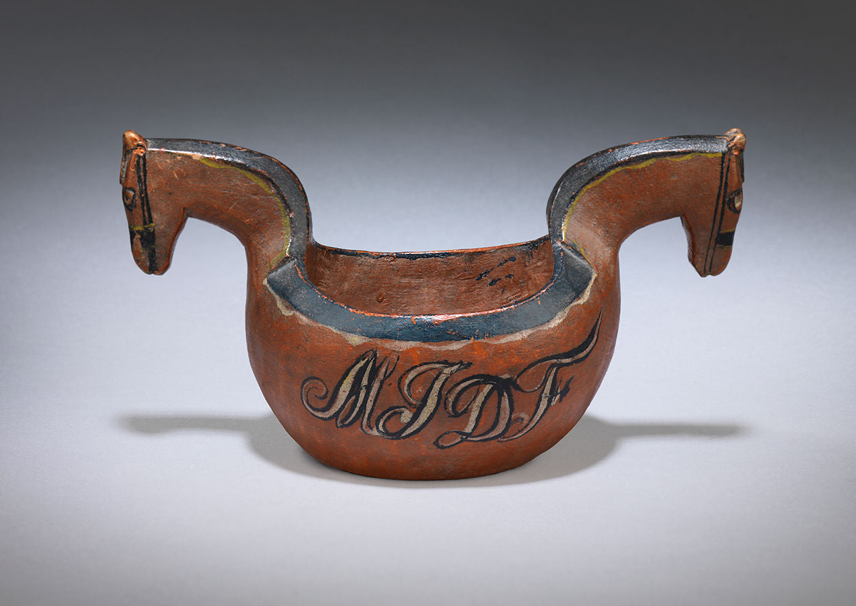 "Unusual Folk Art Horse Head Kasa or ""Kjenge"""