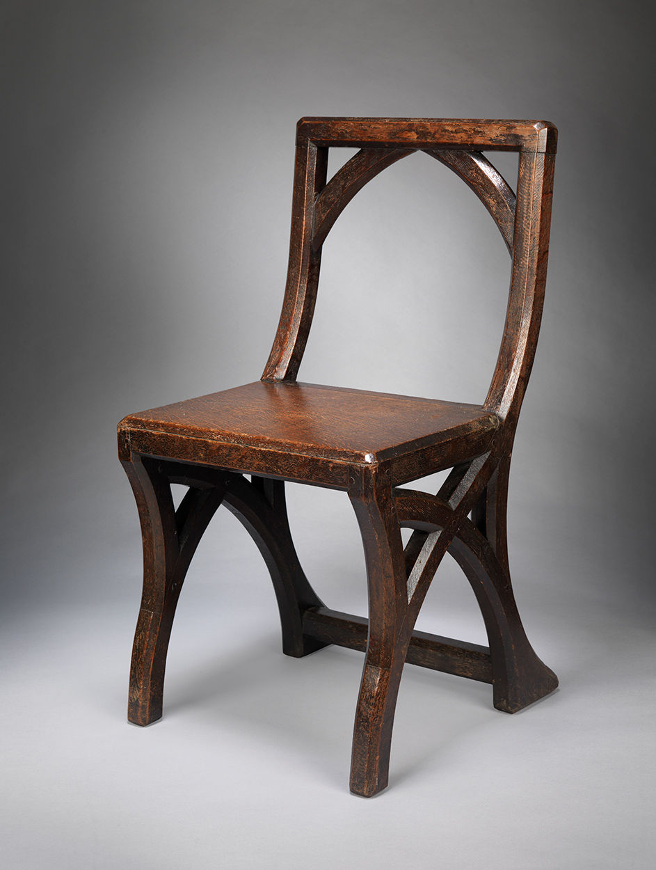 Interesting Gothic Revival Side Chair