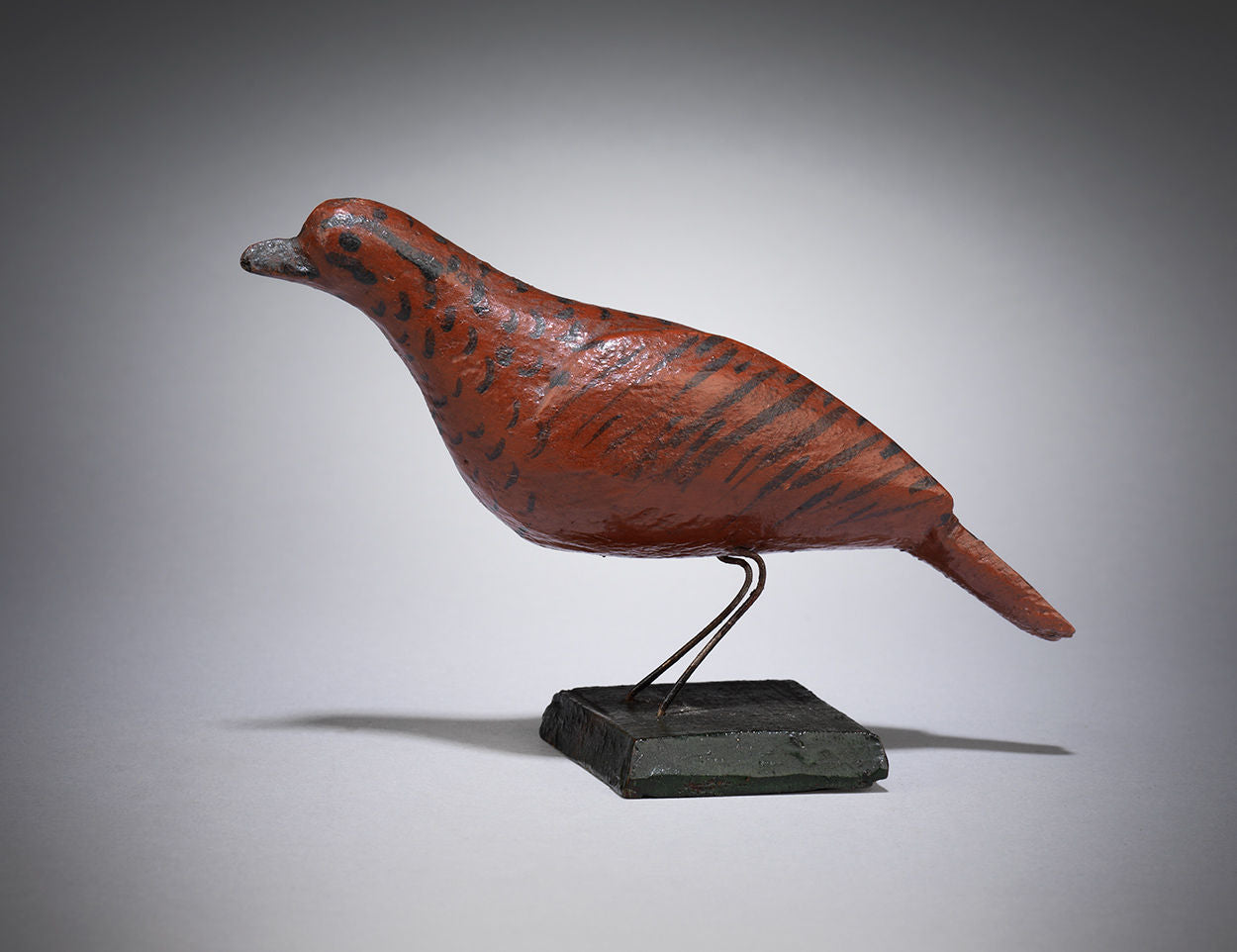 Traditional Miniature Red Painted Songbird