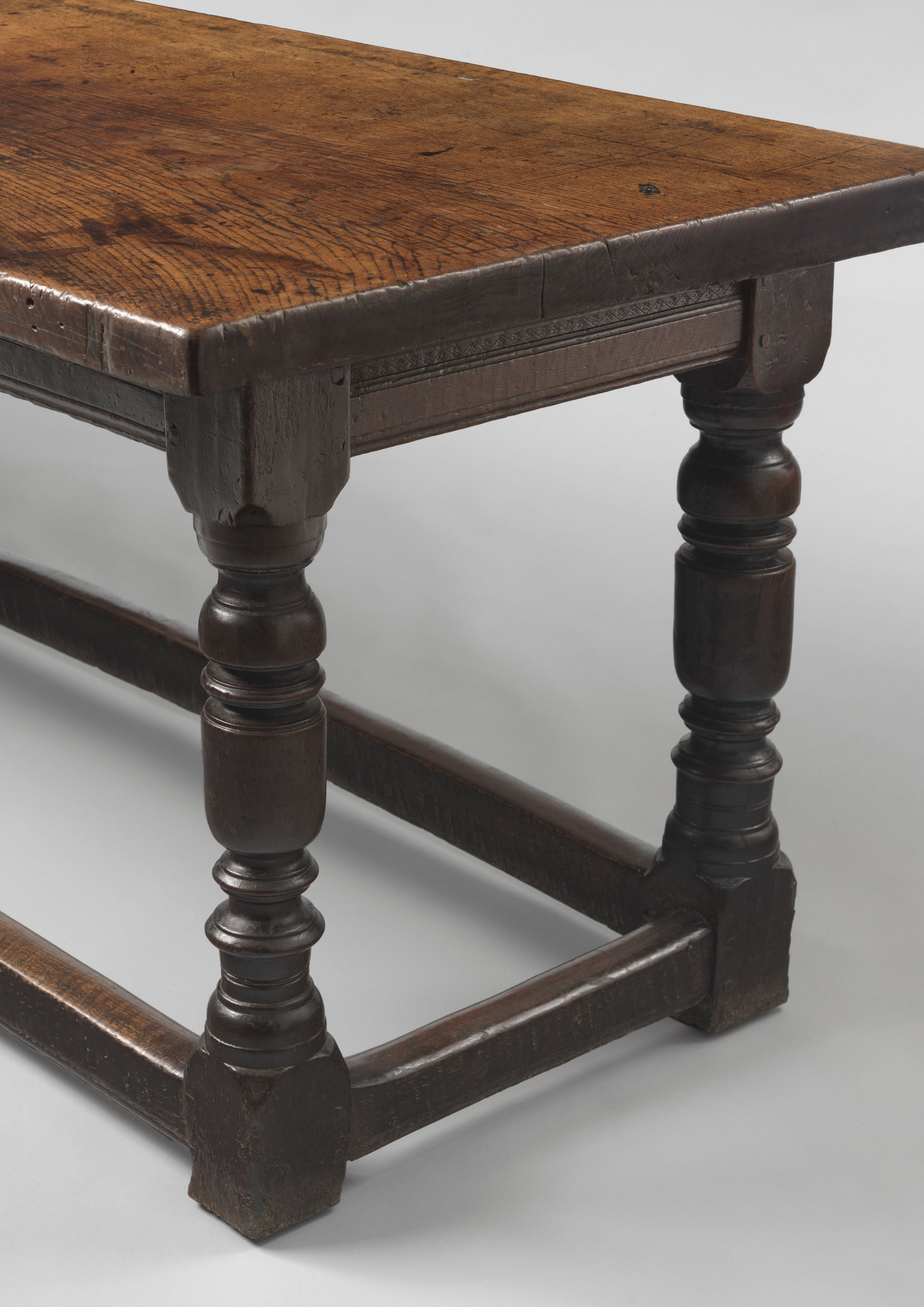 Magnificent and Important Early Single Plank Top Refectory Table