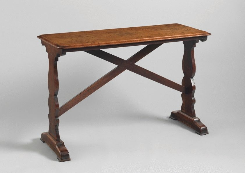 Diminutive Trestle Ended Tavern Table