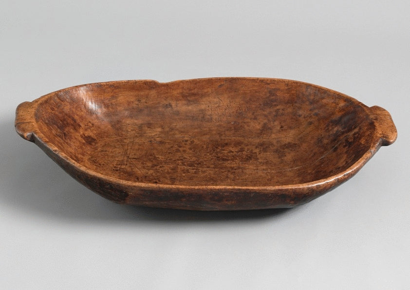 Massive Georgian Oval Salting or Preparation Dish