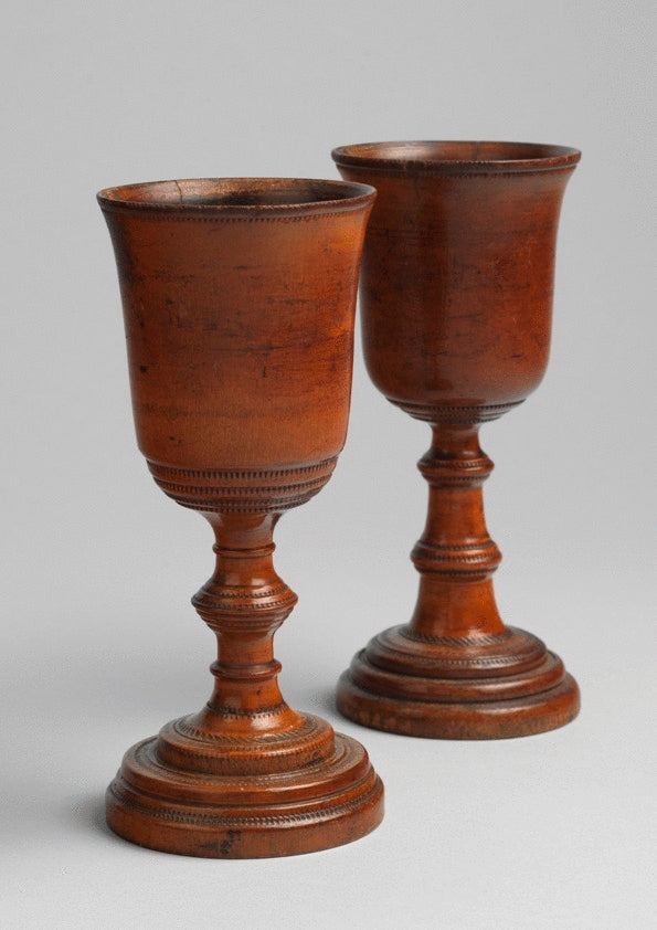 'His and Hers'' Georgian Wine Goblets