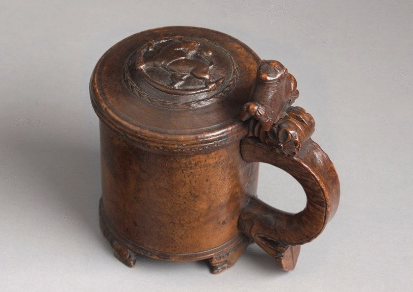 Finely Carved Ceremonial Lion Tankard