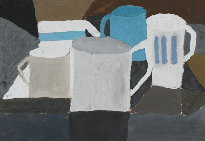Still Life with Five Mugs