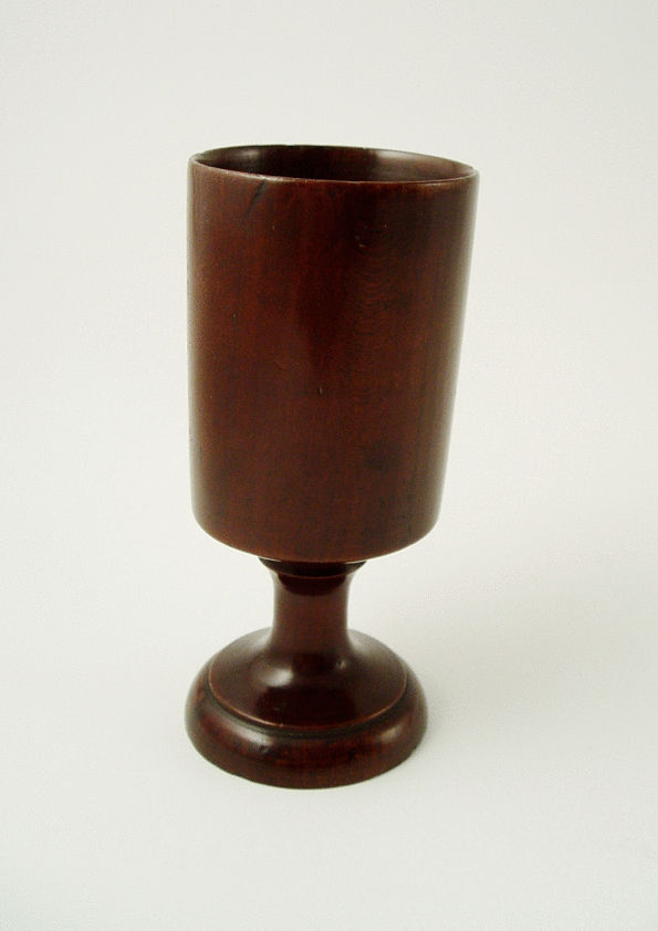 Slender Cylindrical Goblet on Stem Base