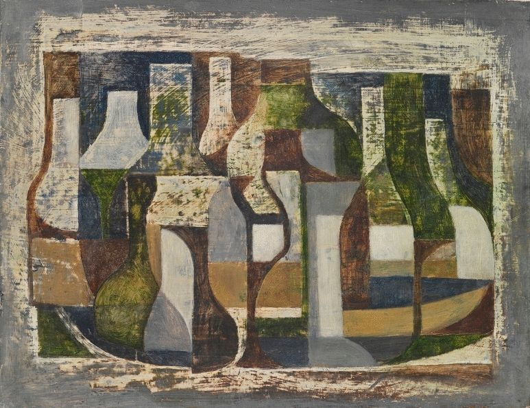 Composition with Bottles and Jars