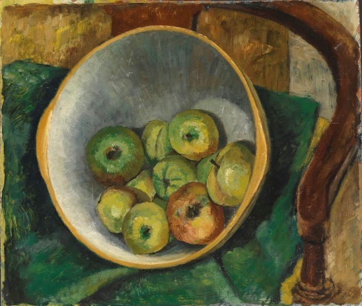 Bowl of Apples On The Chair