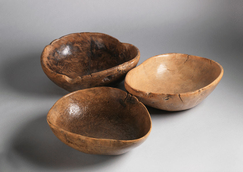 Group of Three Scandinavian Root Bowls