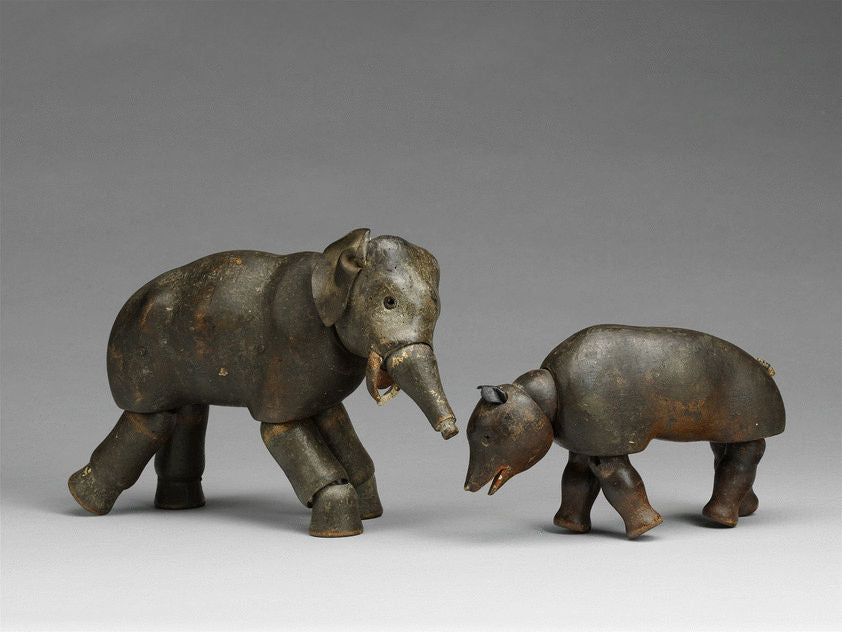 Articulated Elephant and Bear Toys
