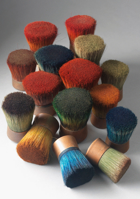 Collection of 15 Artist's Stencilling Brushes