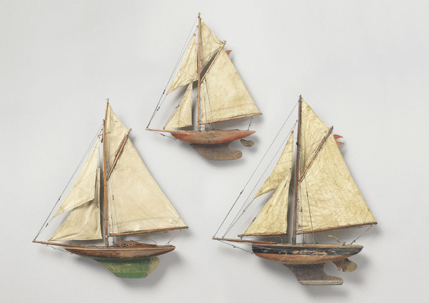 A Collection of Three Vintage Pond Yachts