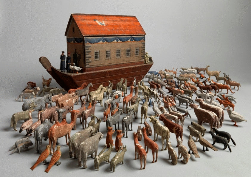 Full Hulled Noah's Ark with Original Animals