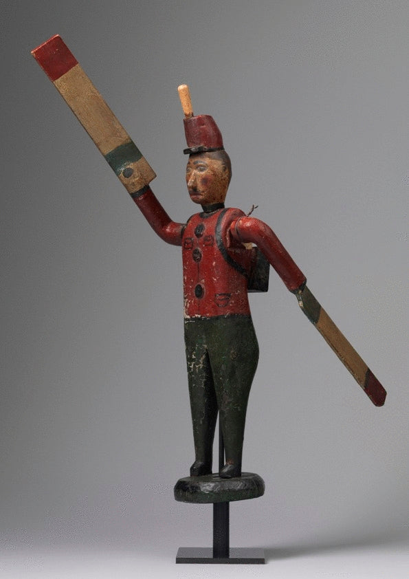 Large Primitive Soldier Fom Folk Art Whirlygig