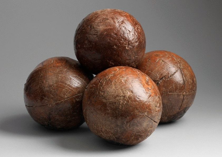 Group of Early Bowling Balls