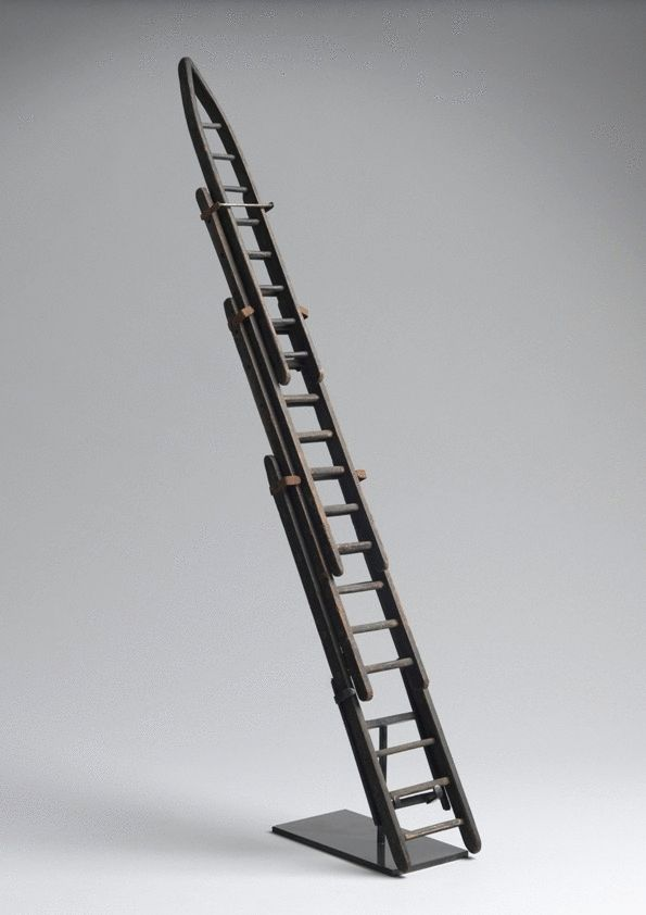 Unusual Miniature Extending Four Section Ladder