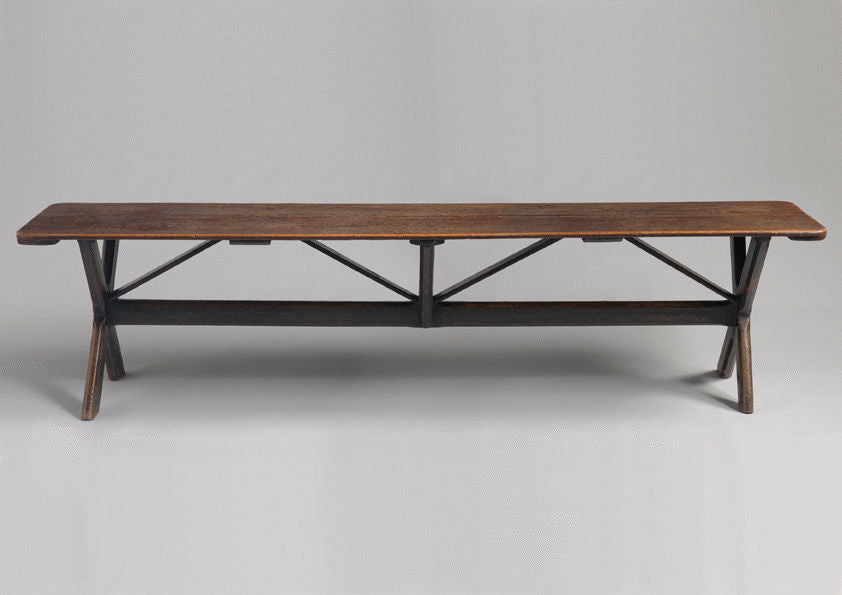A Remarkable Early Double X-Frame Tavern Table