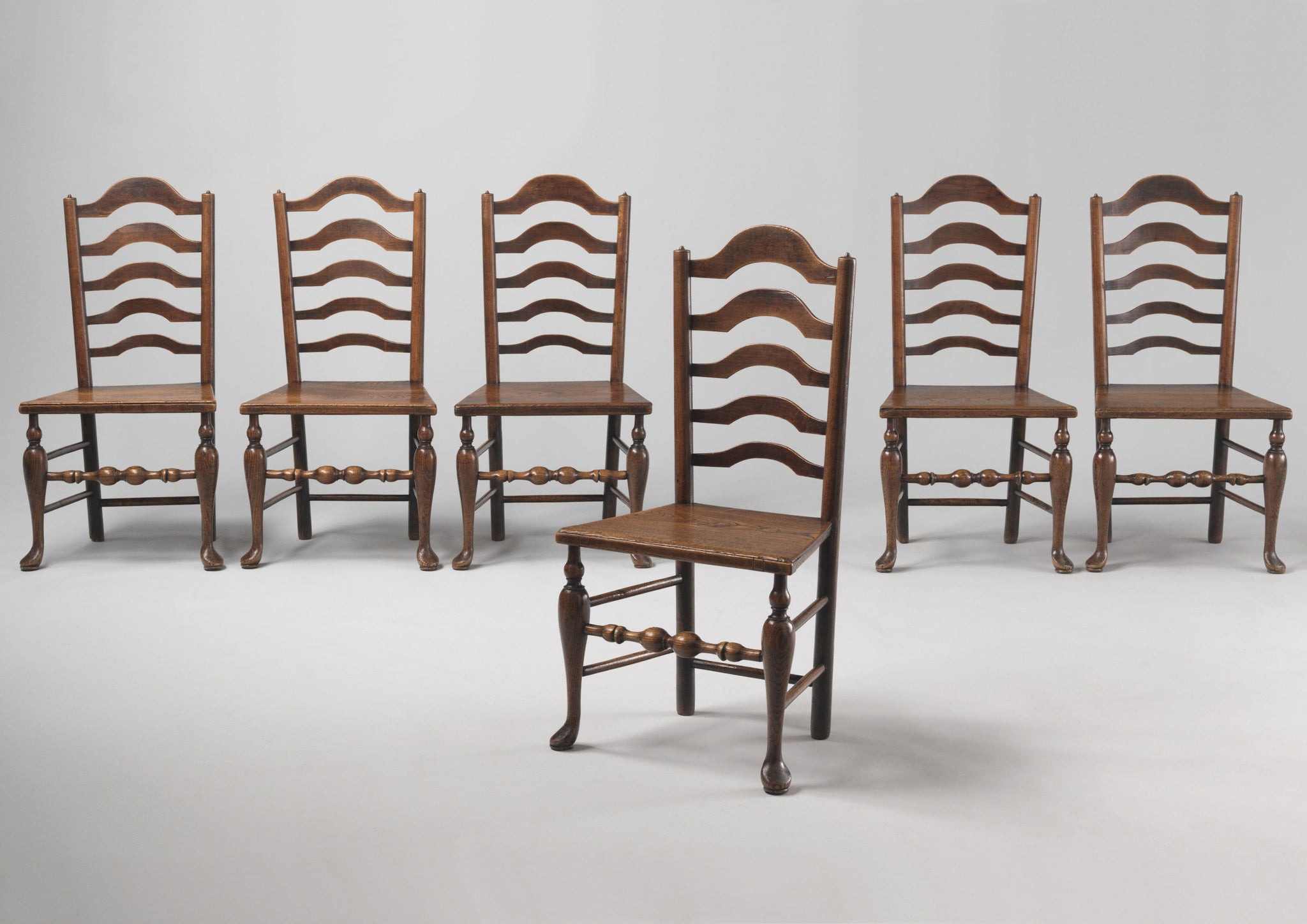 Rare Set of Vernacular Dining Chairs