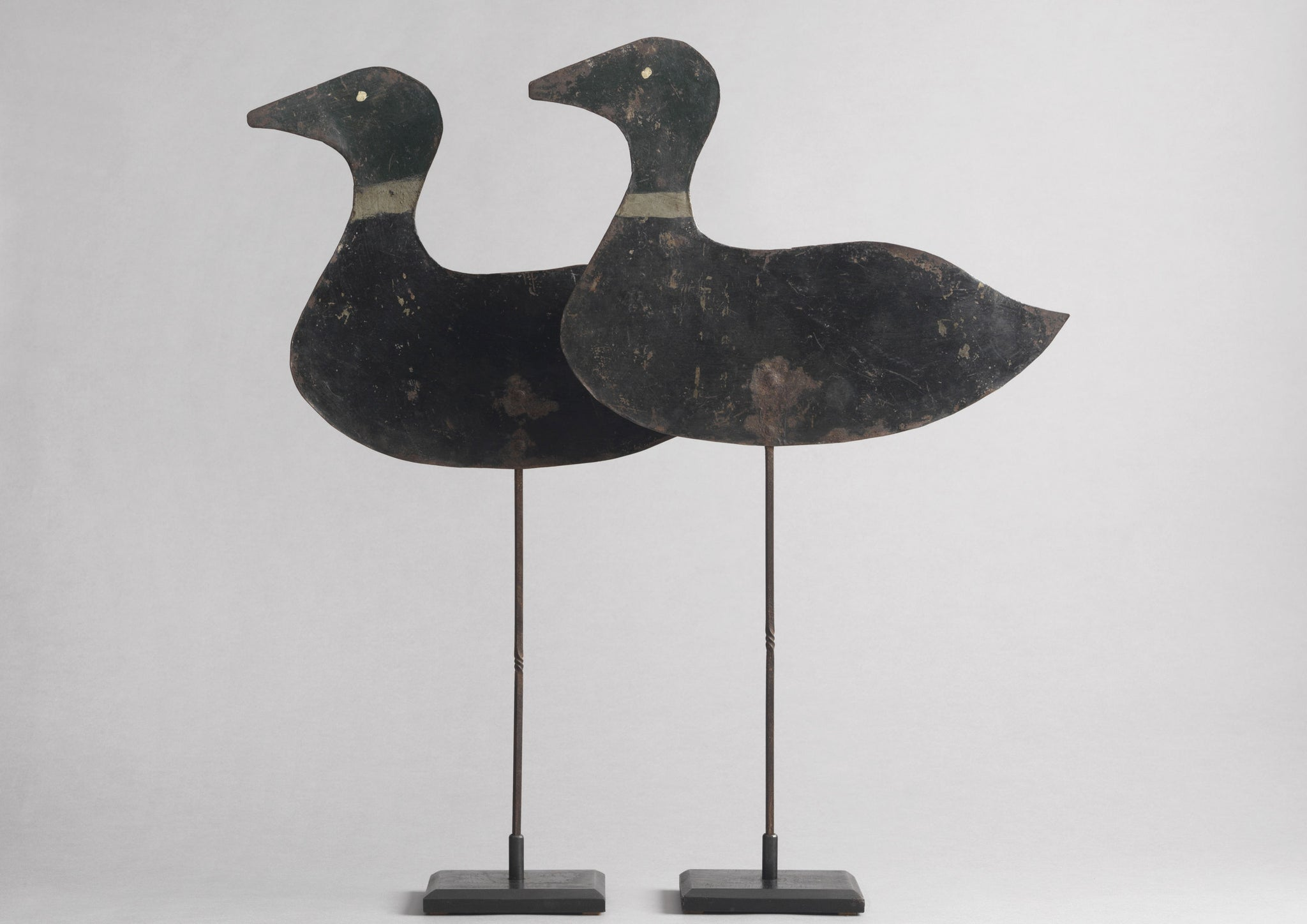 Pair of Working Silhouette Mallard Drake Confidence Decoys