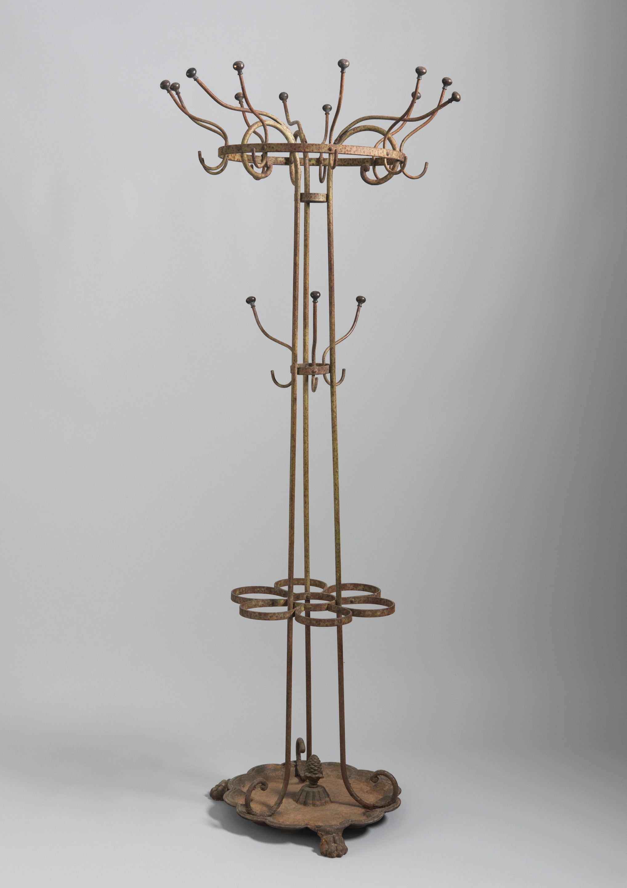 Early Ironwork Hat, Coat and Umbrella Stand