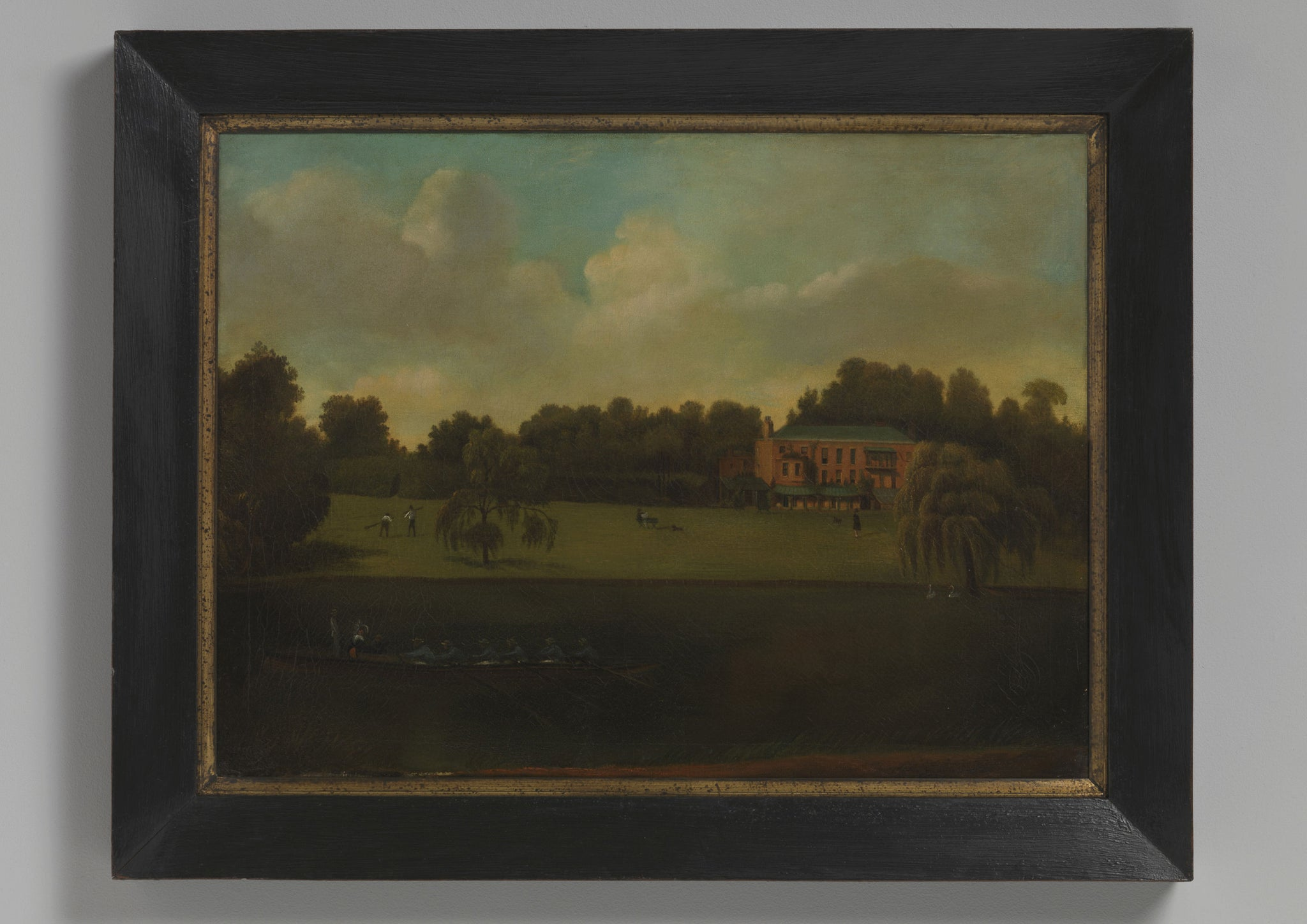 English Naive School House Portrait