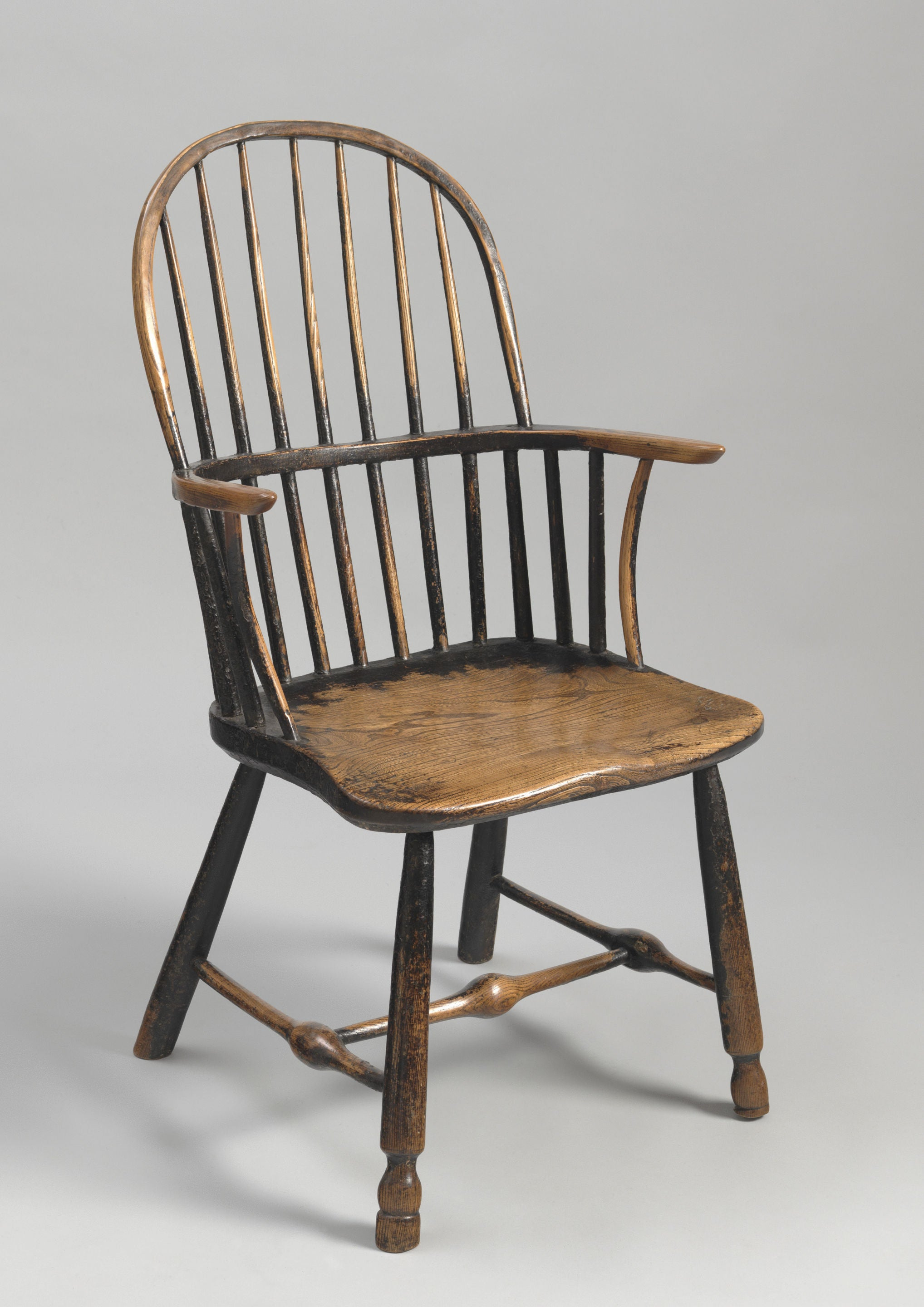 George III Period Primitive Bow Backed Windsor Armchair