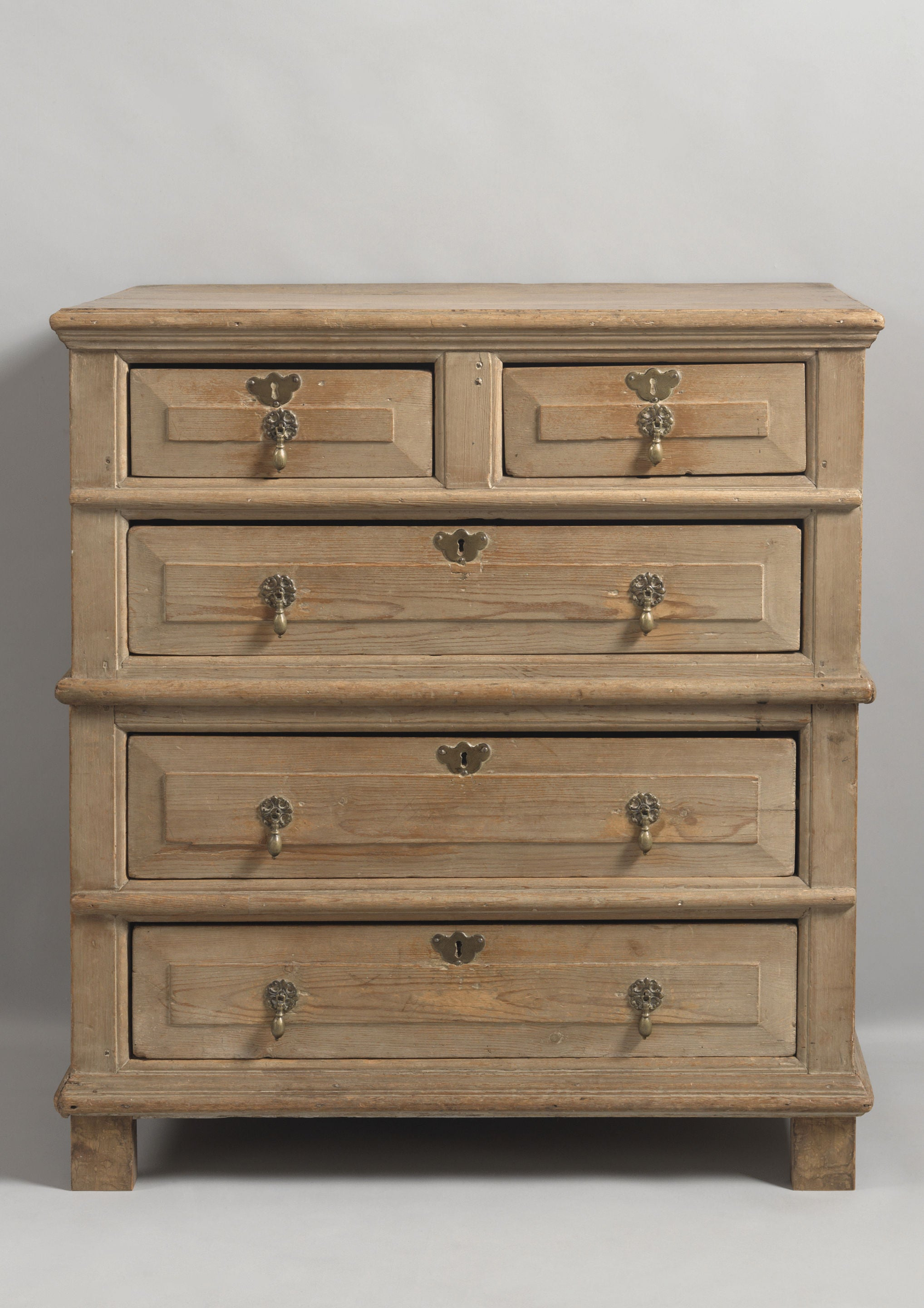 Provincial Queen Anne Chest of Five Drawers