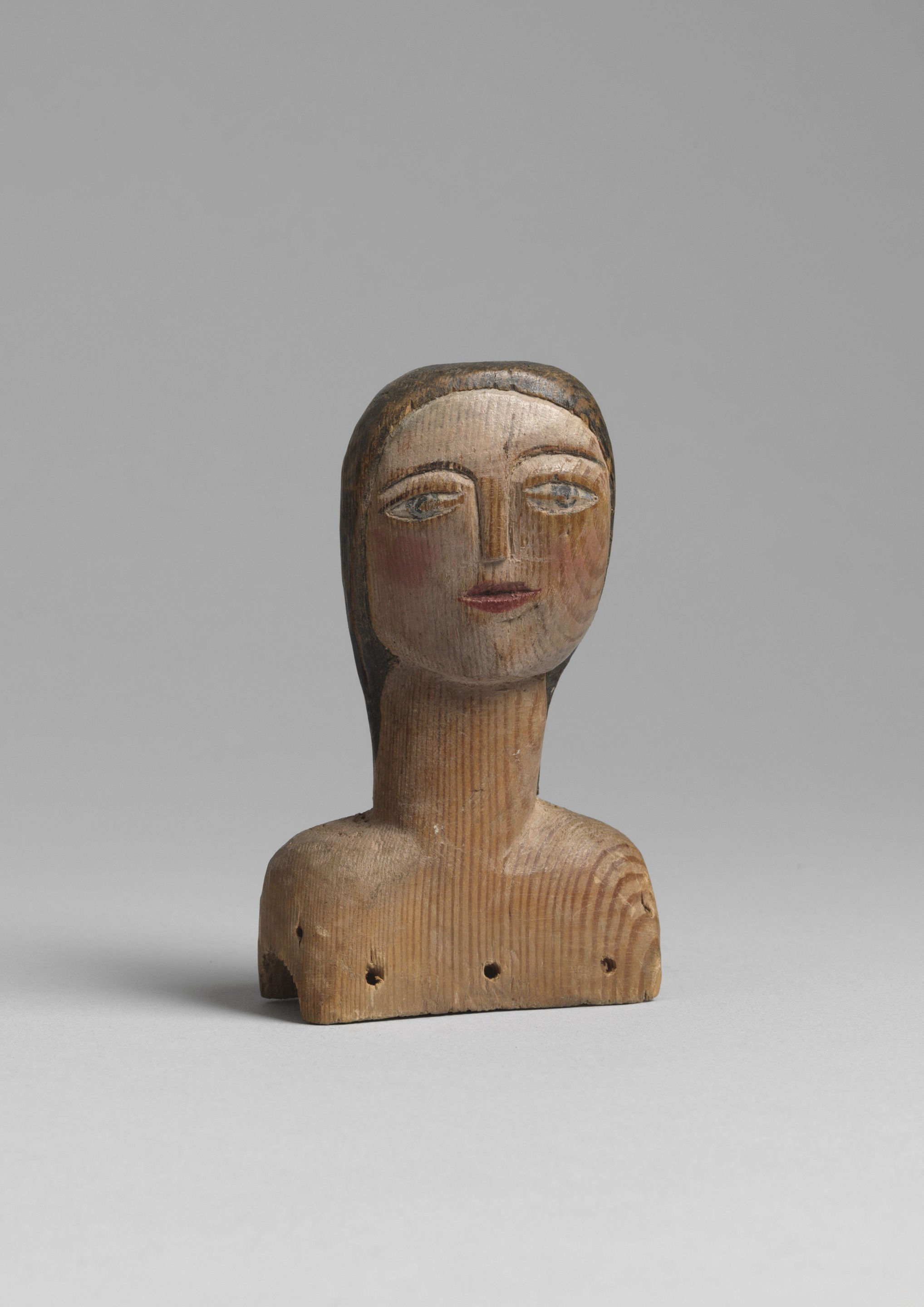Sculptural Naive Doll's Head