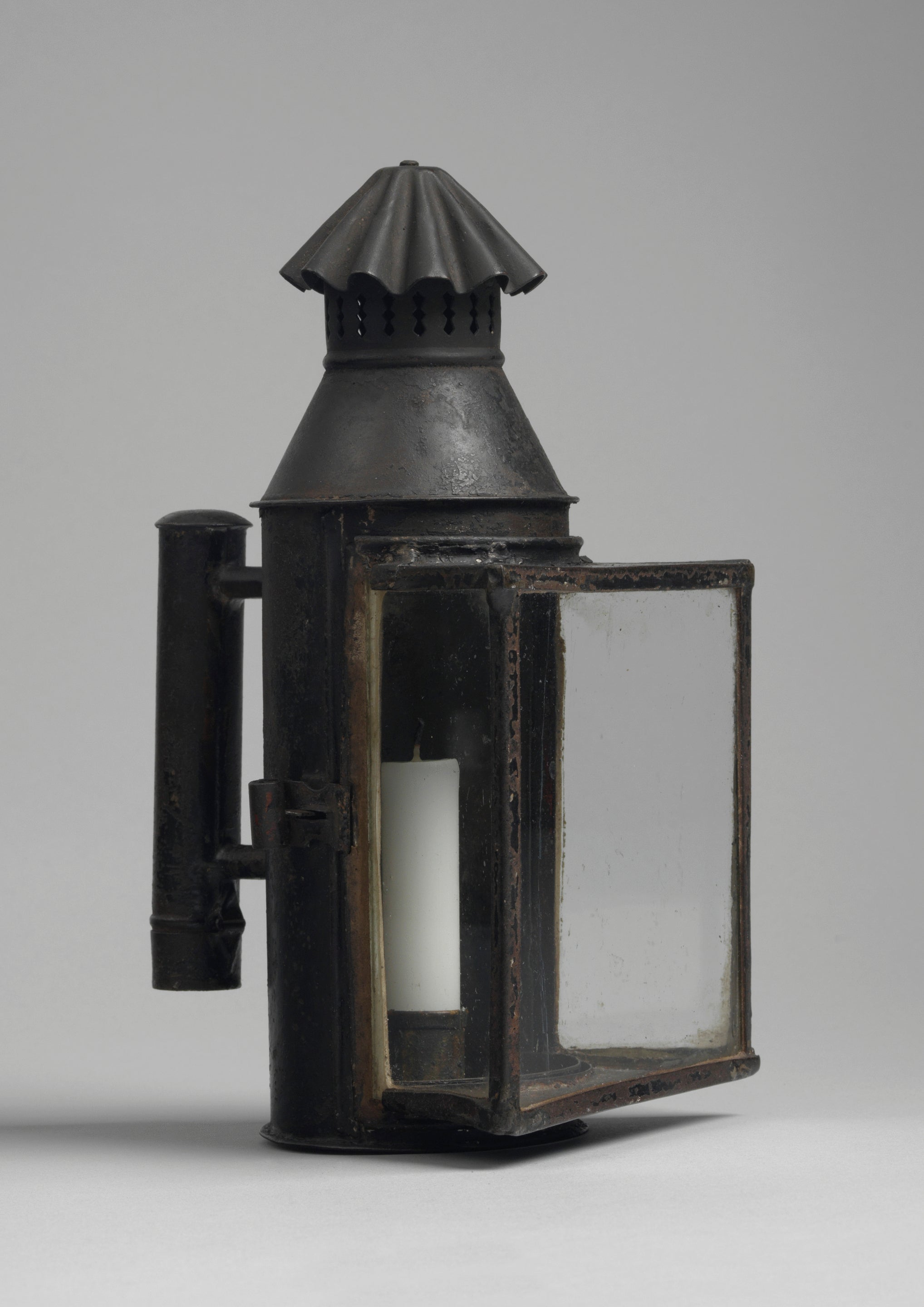 Unusual Toleware Candle Lantern