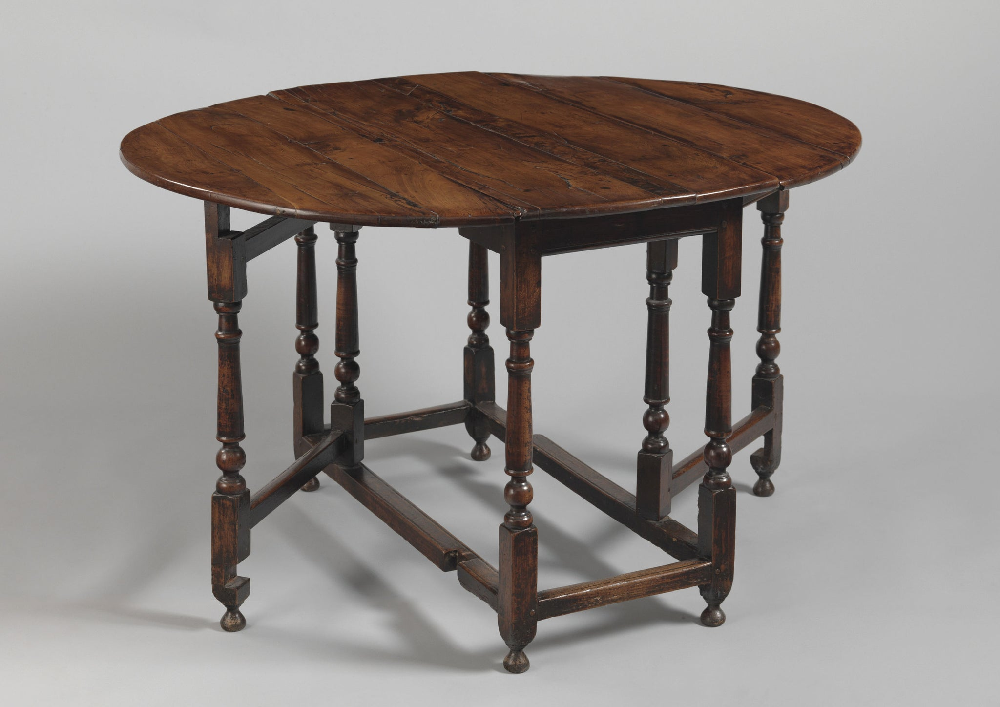 William and Mary Period Oval Table.
