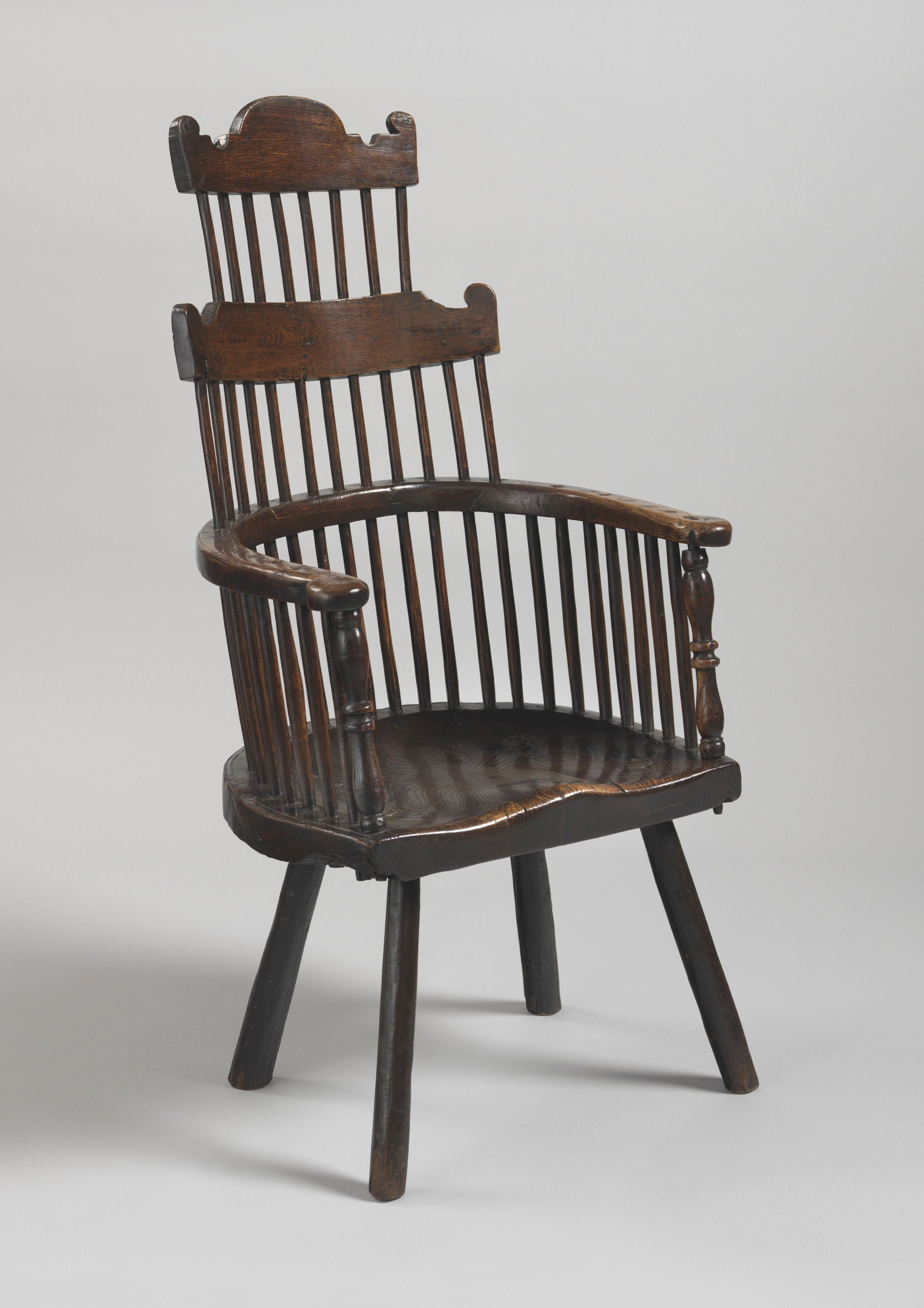 Exceptional Early Double Comb Back Windsor Armchair