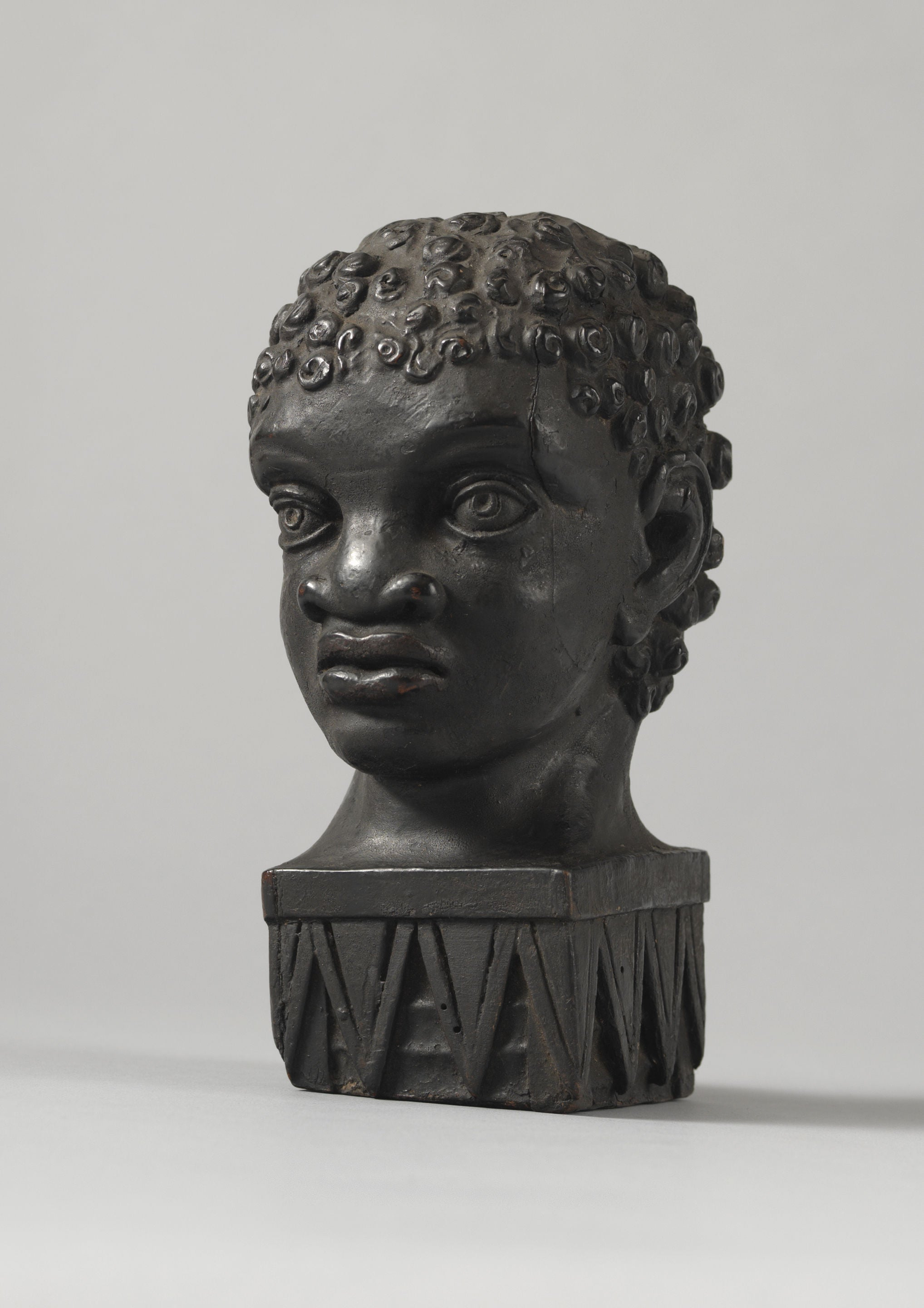 Fine Early Folk Art Blackamoor Portrait Bust