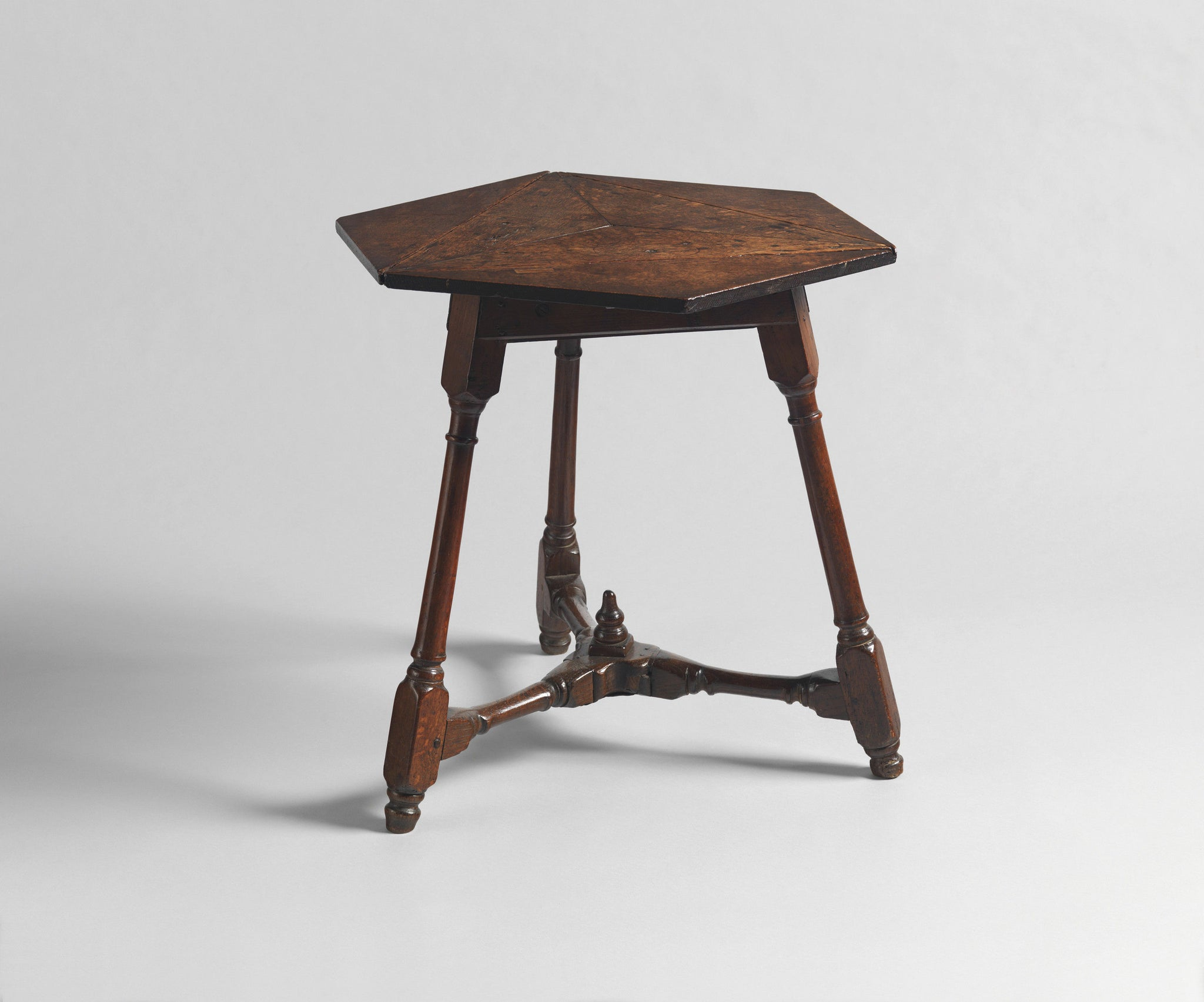 Early Hexagonal Drop Leaf Leaf Table