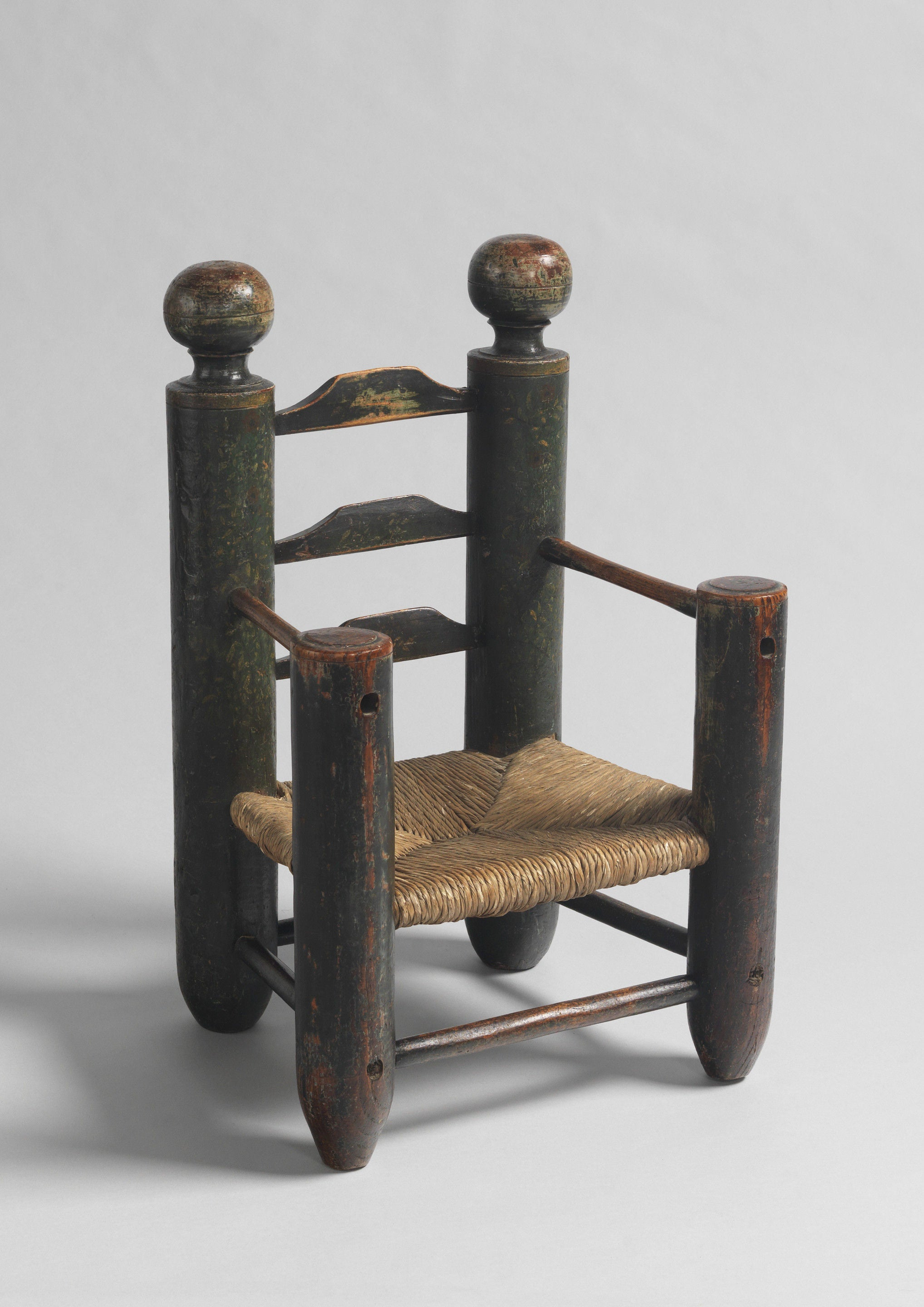 Monumental Early Ladderback Child's Chair
