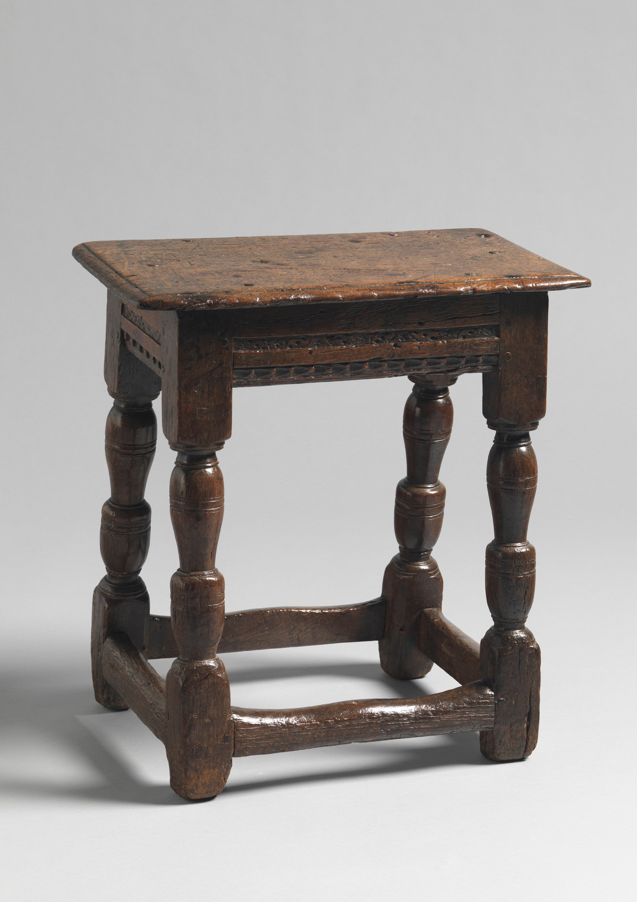 Early Baluster Turned Leg Joint Stool