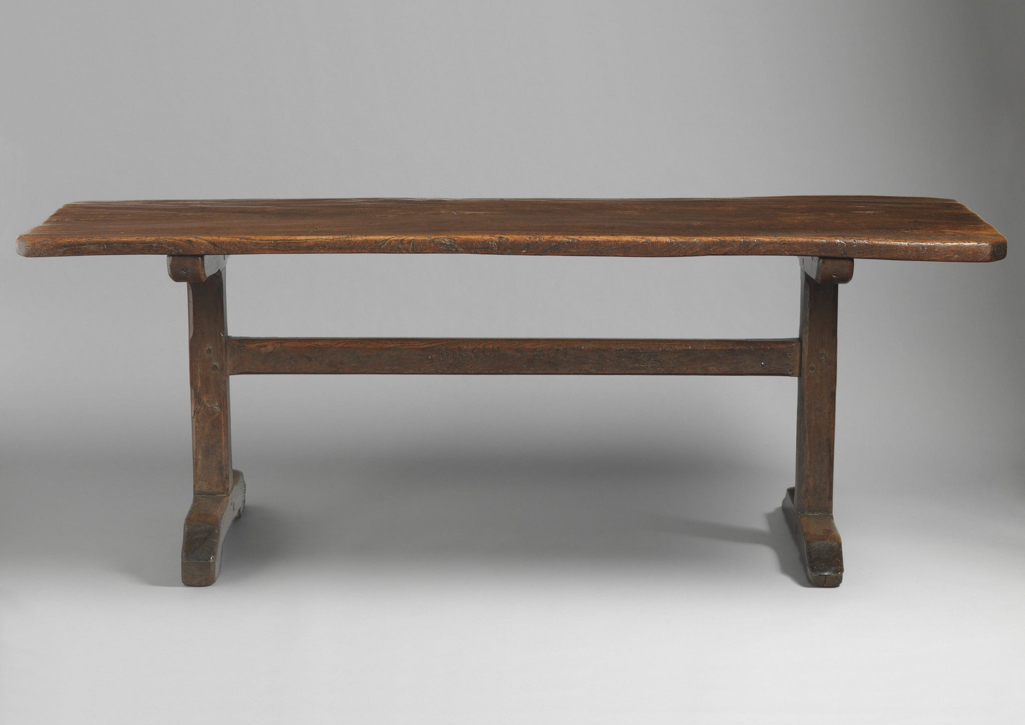 Exceptional Single Plank Top Trestle Table