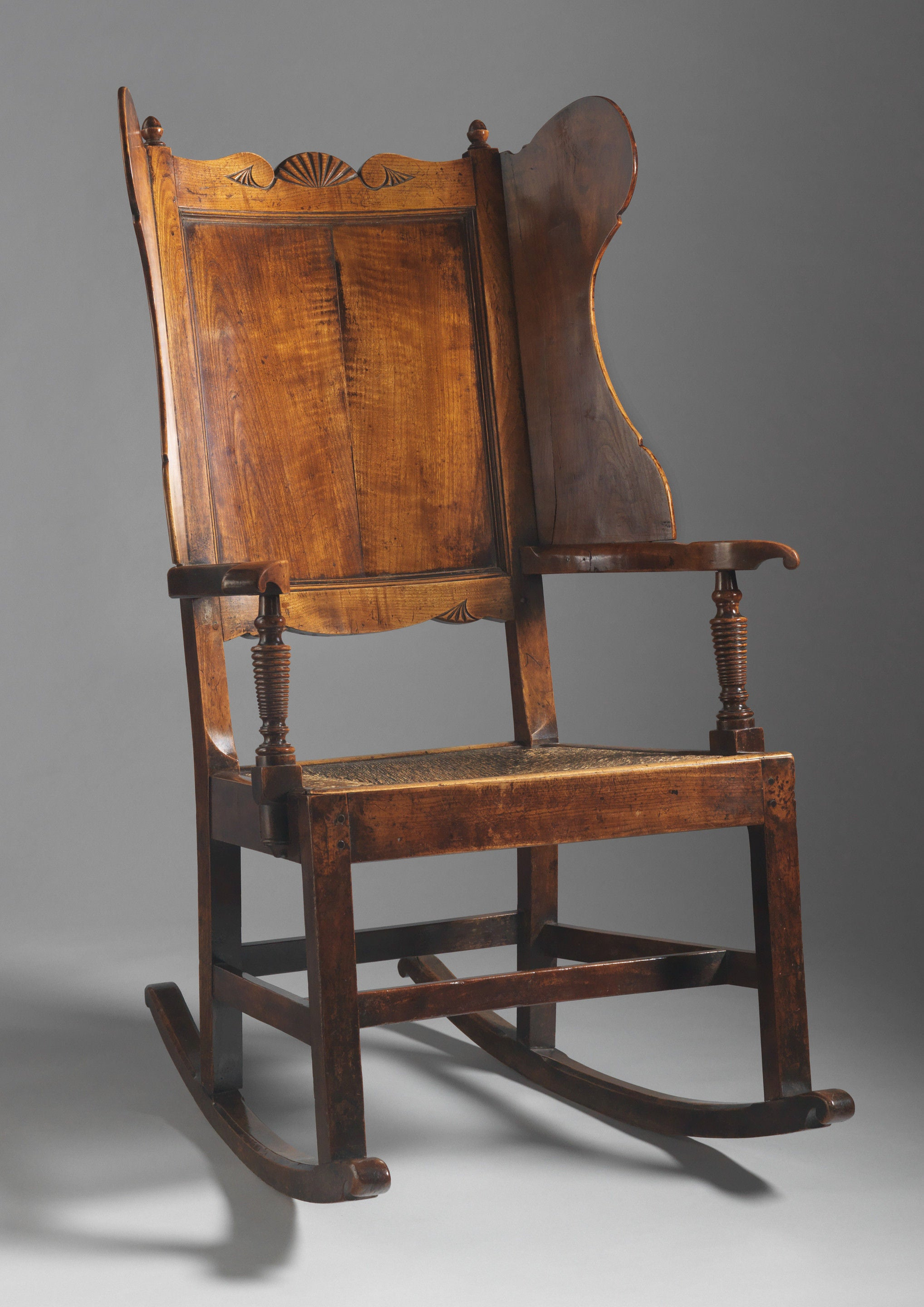 Rare 'Wing Back' Rocking Armchair