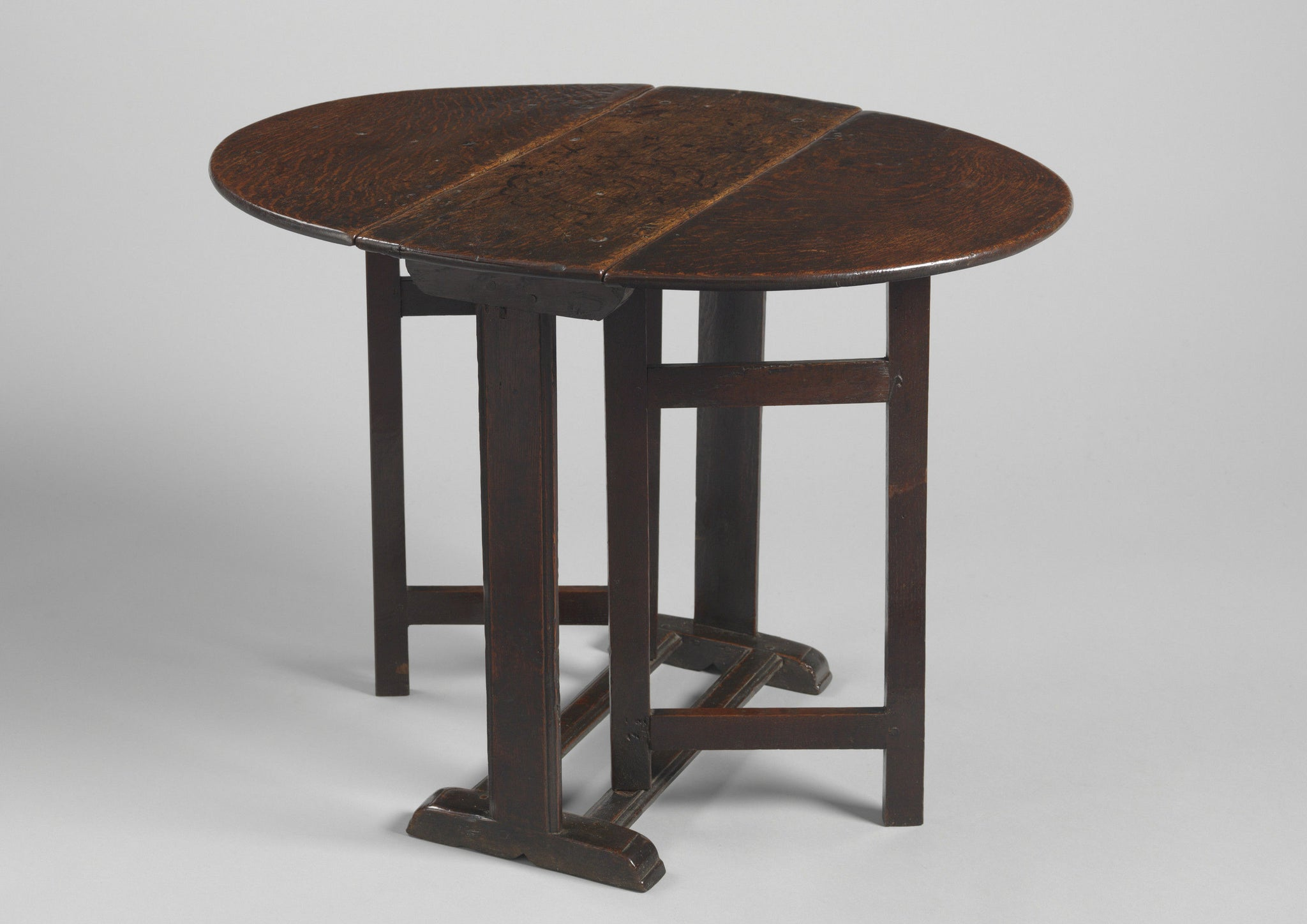 Delightful Early Prmitive Oval Drop Leaf Table