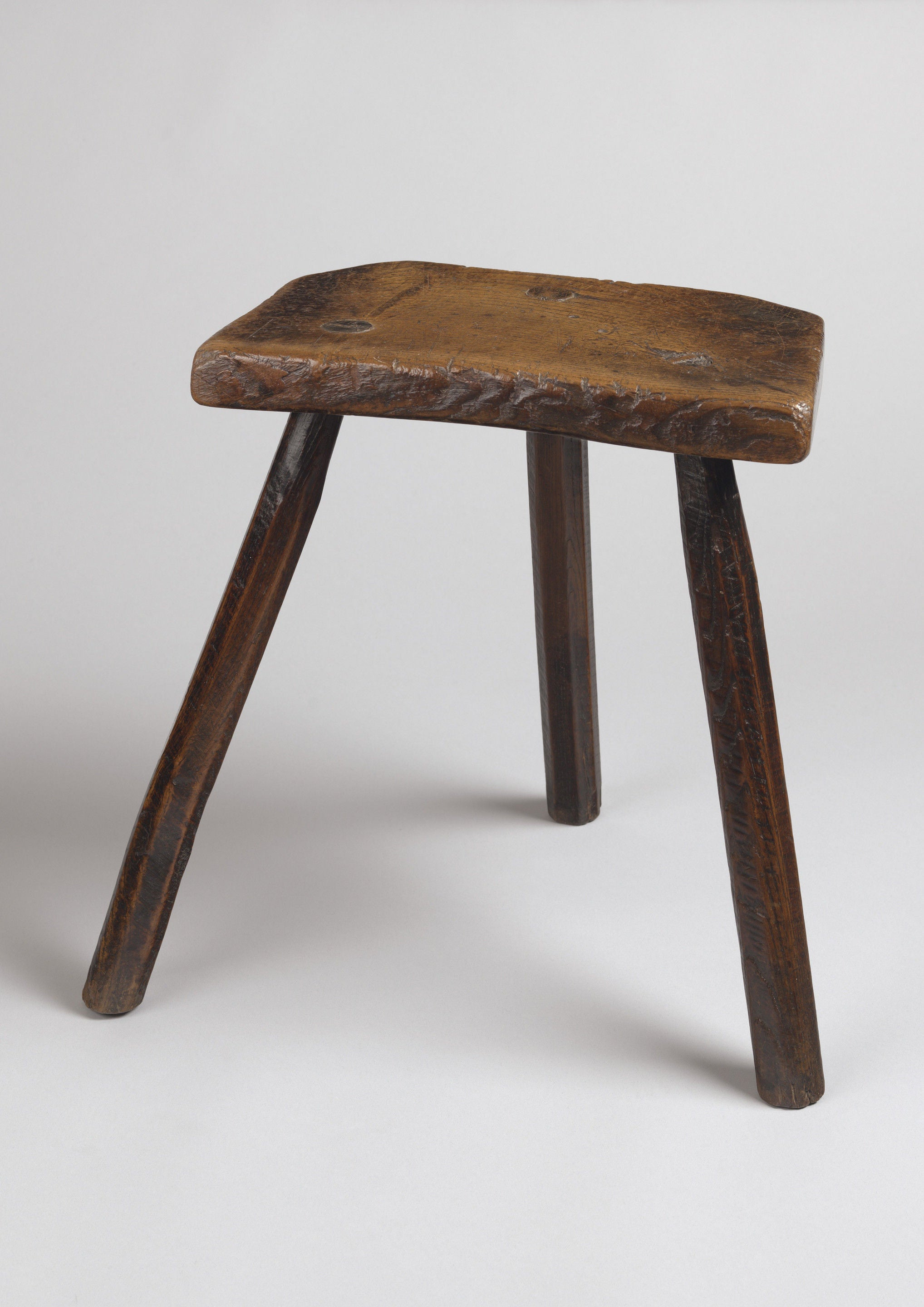 Traditional Three Legged Farmhouse Stool