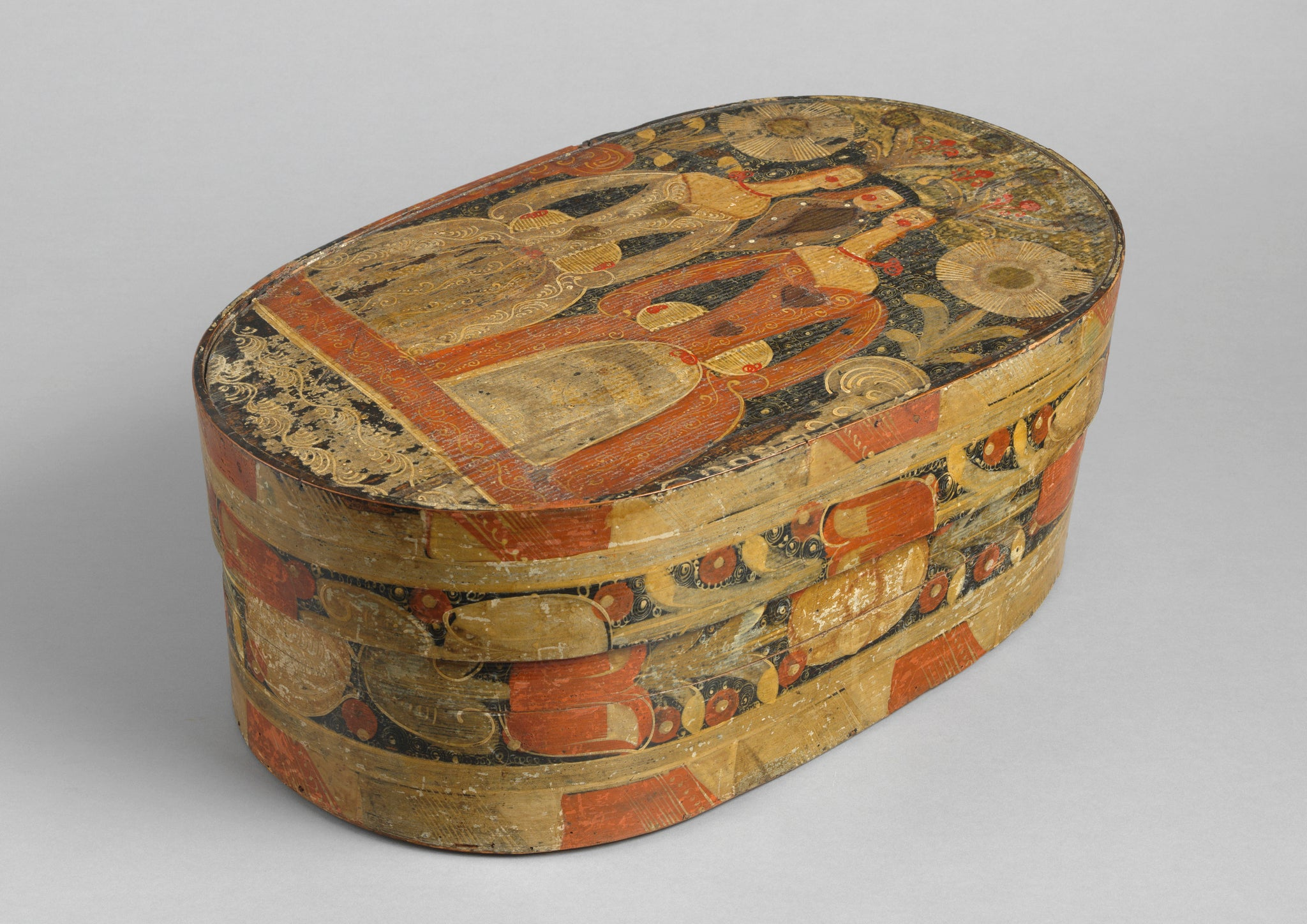 Fine Oval Bride's Box or 'Spaanaeske'