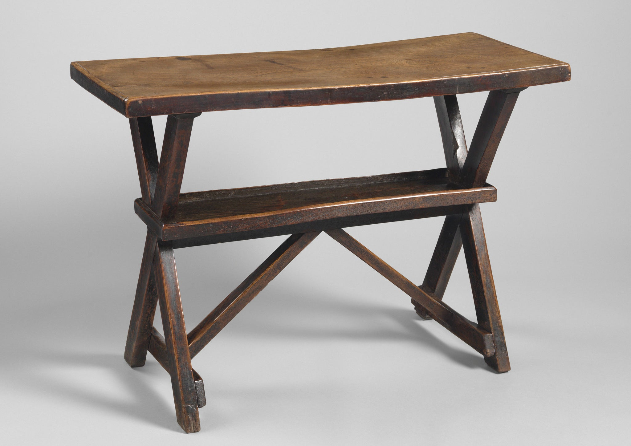 Two Sculptural Early Tavern Tables