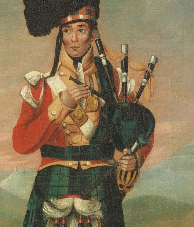 A Piper of the Black Watch, Depicting George Clarke